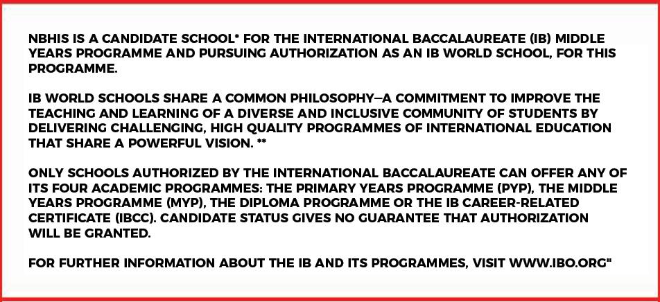 IB Disclaimer