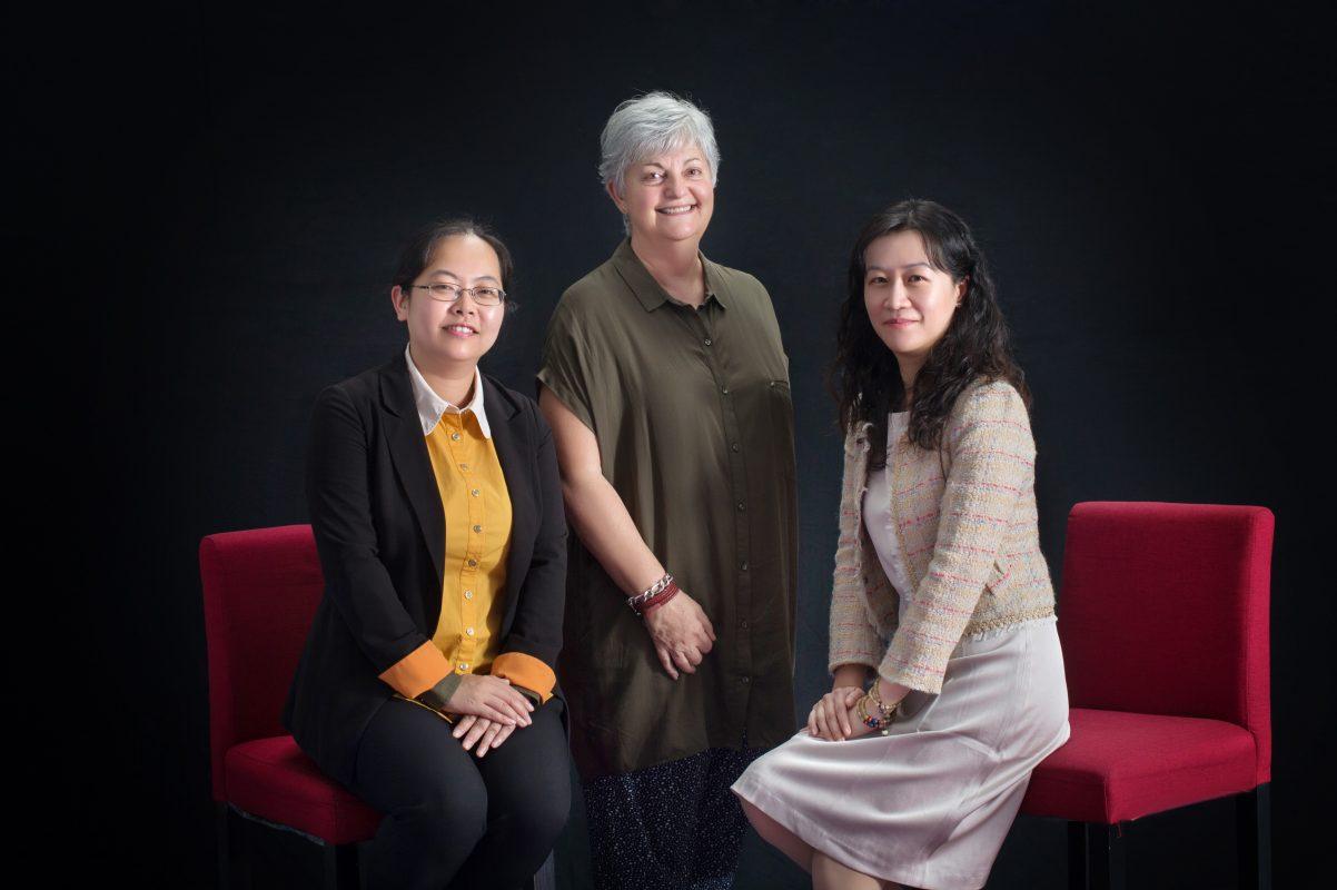 Maggie Ye, Cheryl Keegan and Sarah Chen